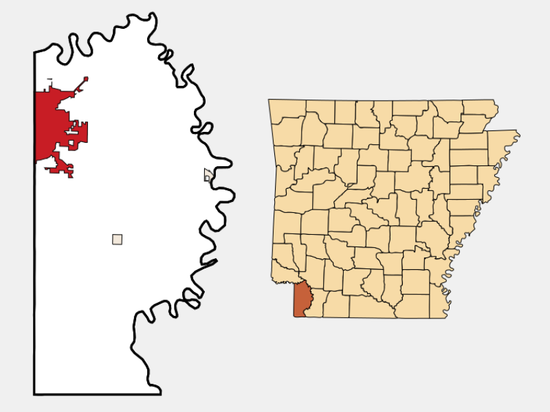 Texarkana locator map