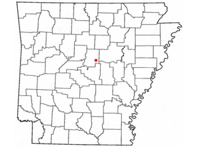 Vilonia locator map