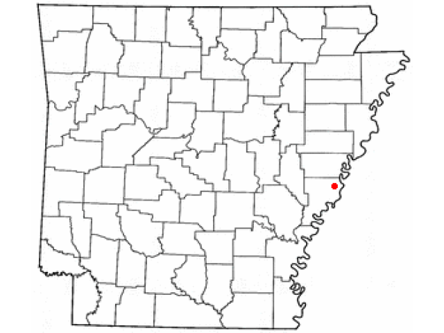West Helena location map