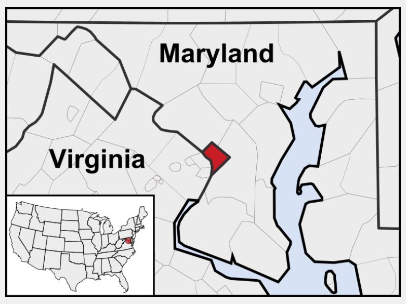 District of Columbia locator map