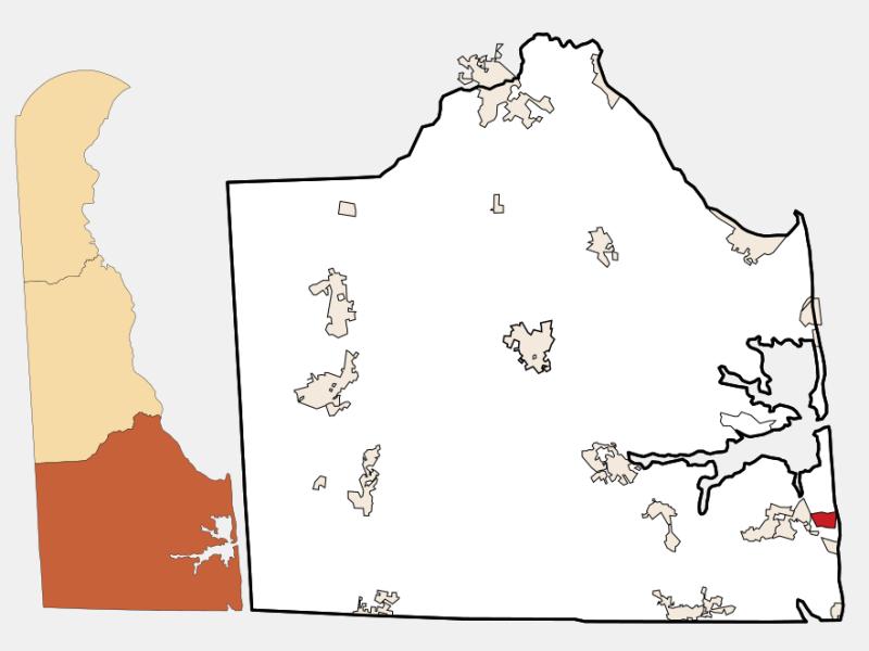Bethany Beach locator map