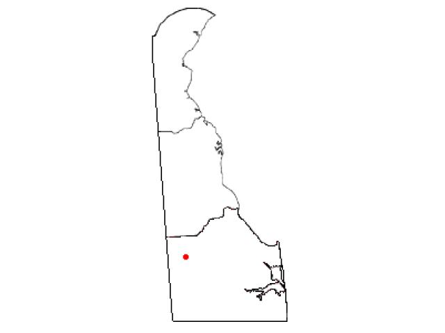 Bridgeville locator map