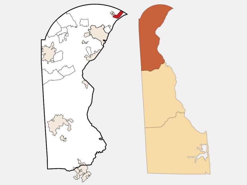 Claymont locator map