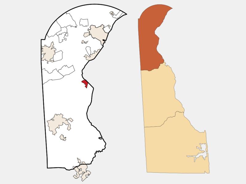 Delaware City locator map