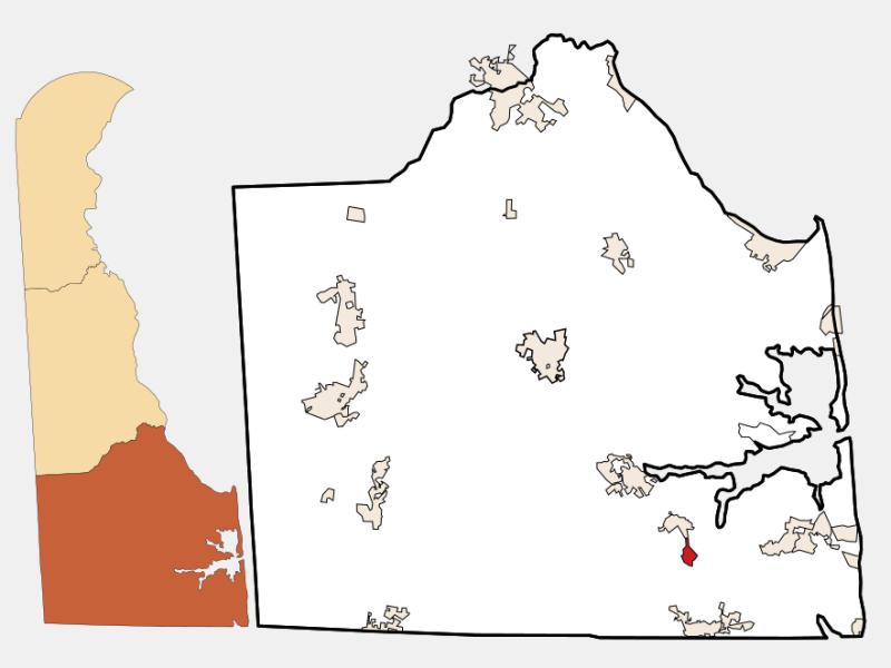 Frankford locator map