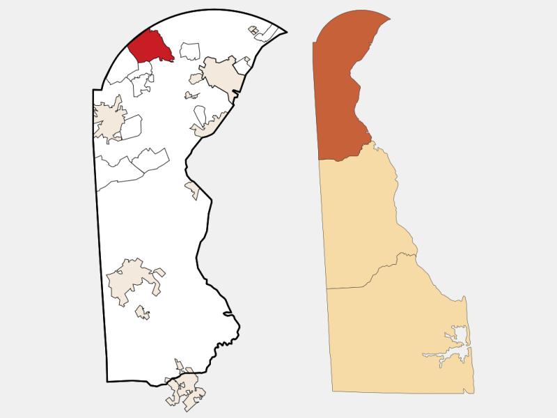 Hockessin locator map