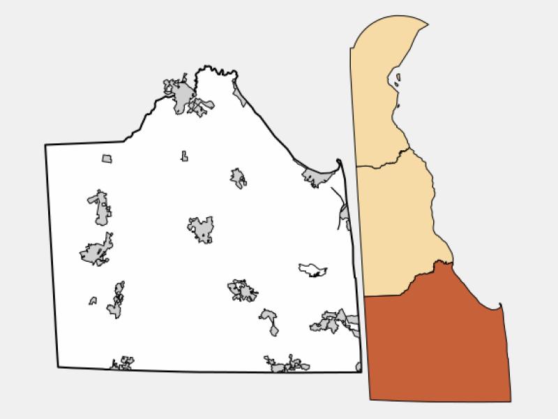 Rehoboth Beach locator map