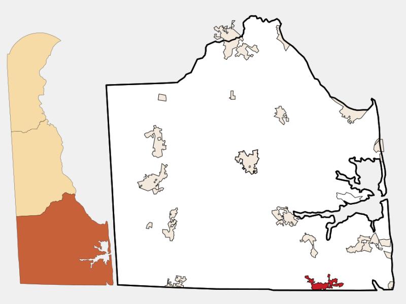 Selbyville locator map