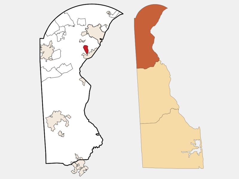 Wilmington Manor locator map