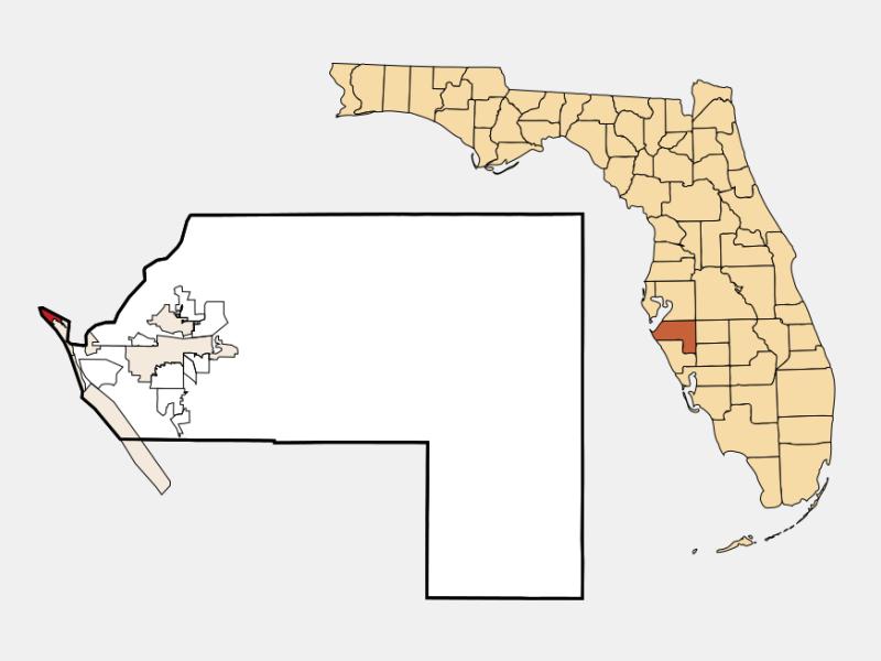 Anna Maria locator map