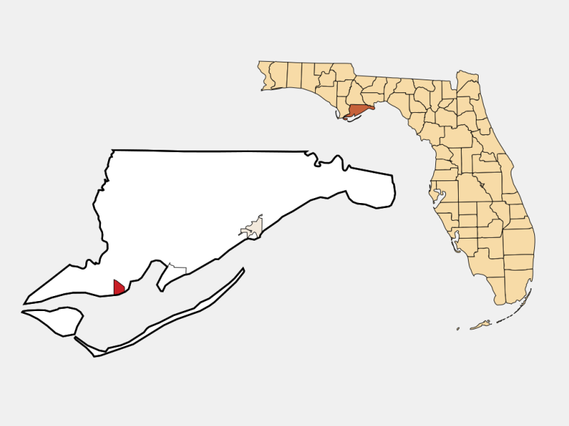 Apalachicola locator map