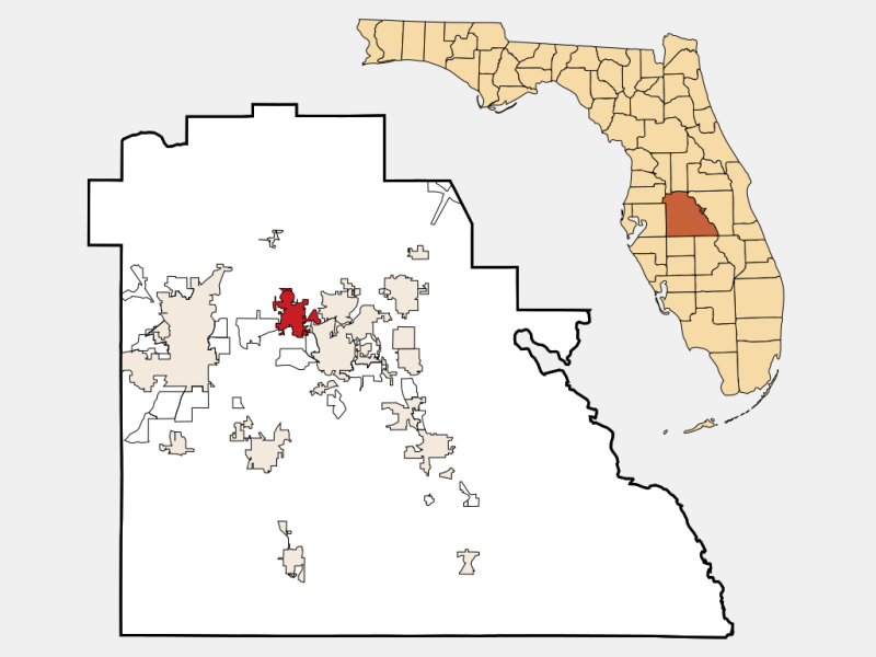 Auburndale locator map