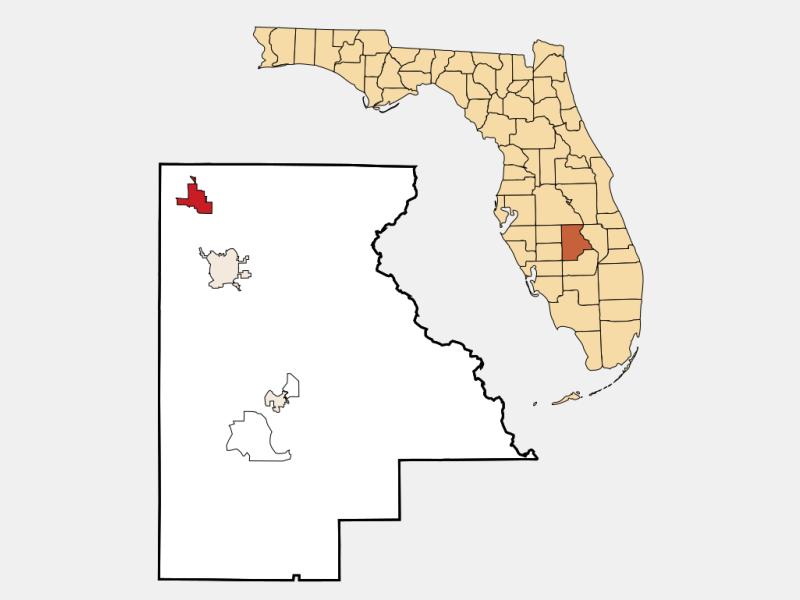 Avon Park locator map