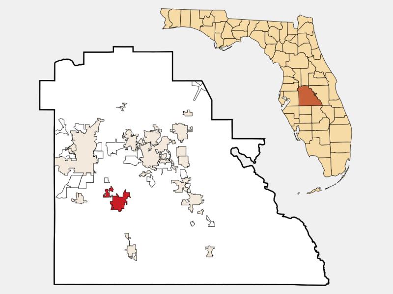 Bartow locator map