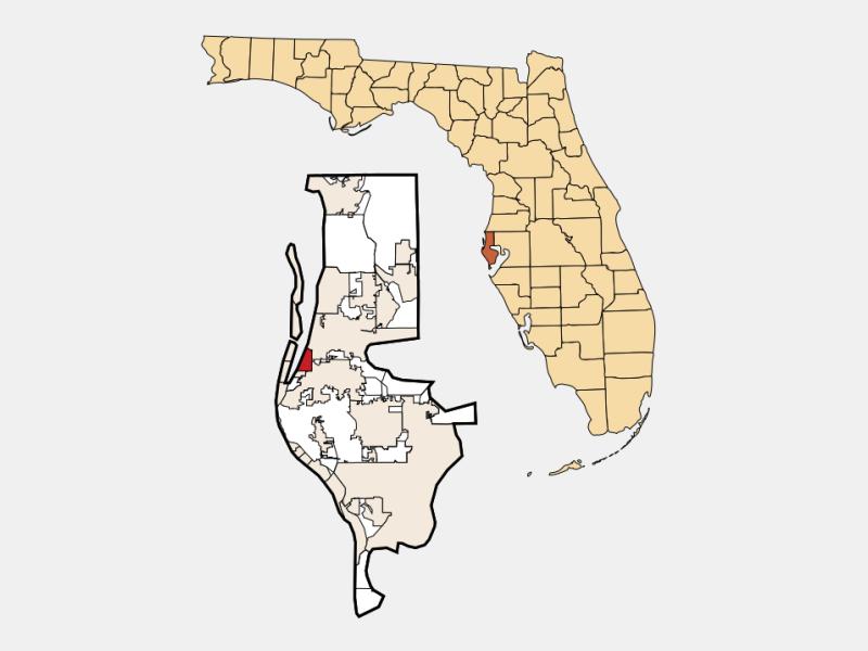 Belleair location map