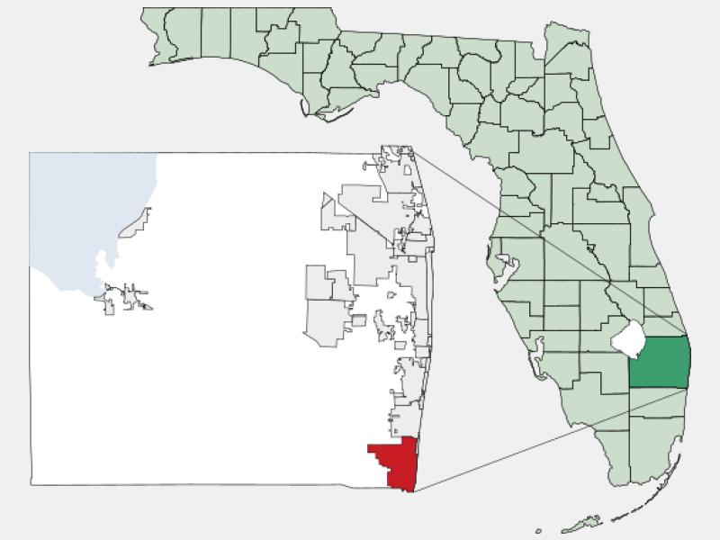 Boca Raton, FL locator map