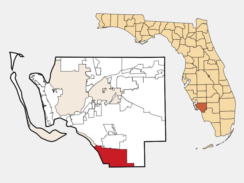 Bonita Springs locator map