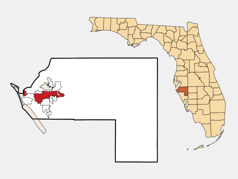 Bradenton locator map