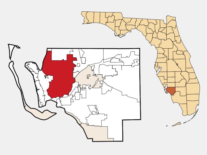 Cape Coral, FL locator map