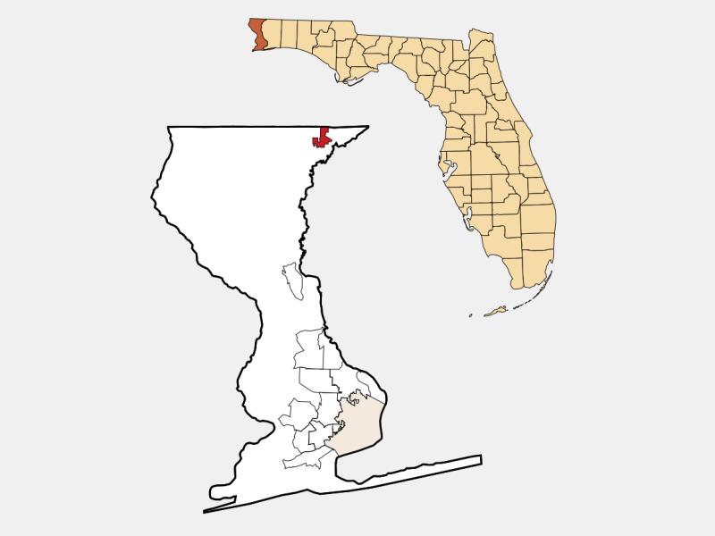 Century locator map
