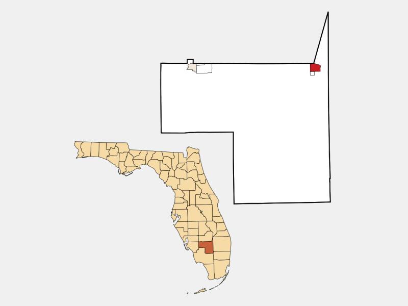 Clewiston locator map