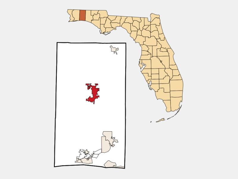 Crestview, FL locator map