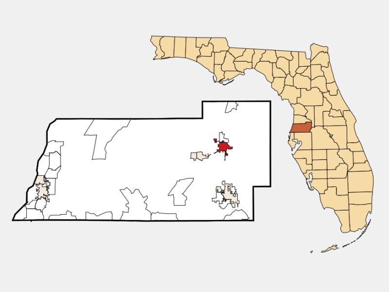 Dade City location map