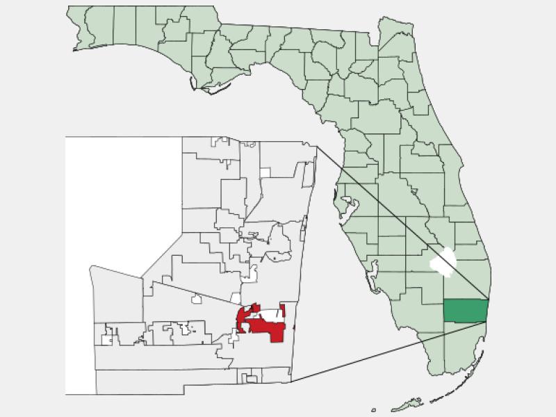 Dania Beach, FL locator map