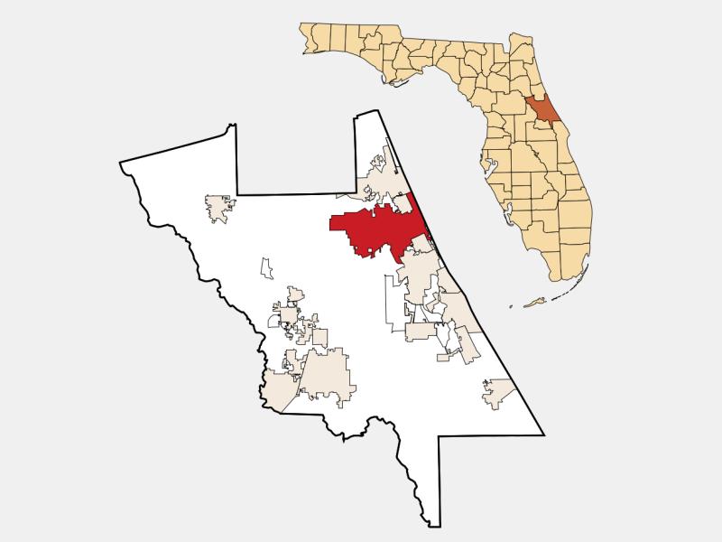 Daytona Beach locator map