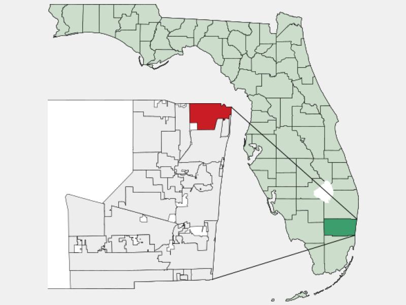 Deerfield Beach locator map