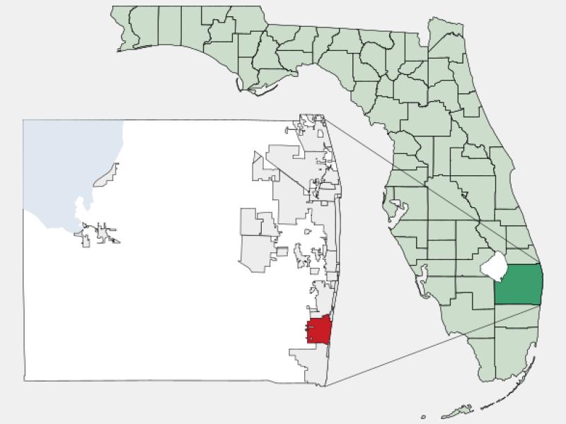 Delray Beach locator map