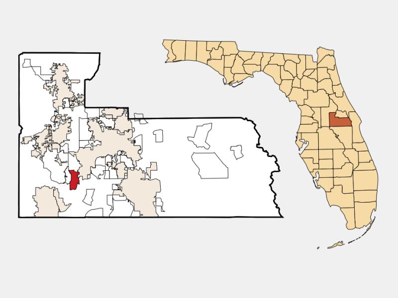 Doctor Phillips locator map