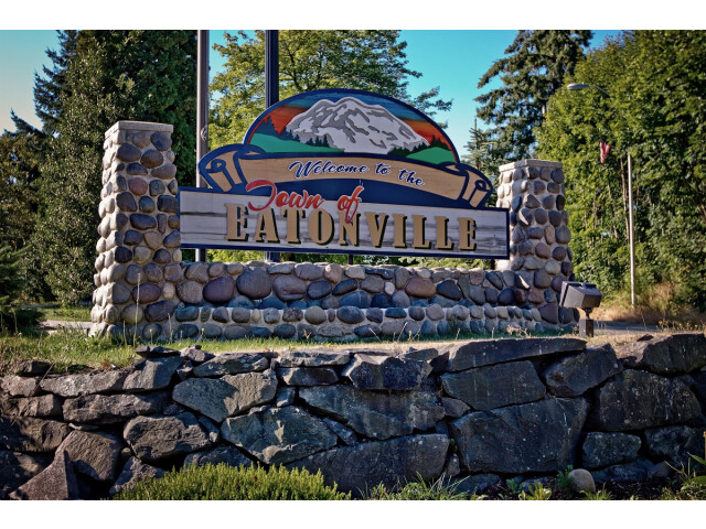 Welcome sign in Eatonville  WA image