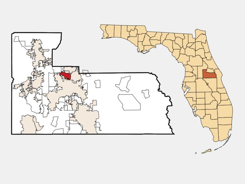 Fairview Shores locator map