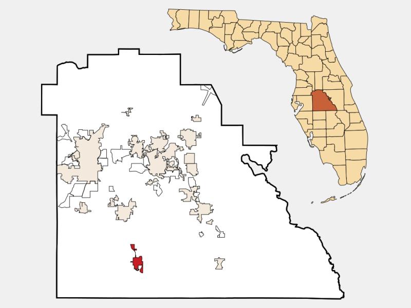 Fort Meade locator map