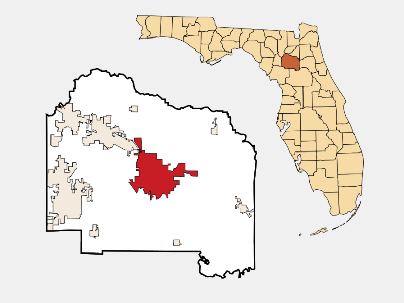 Gainesville locator map