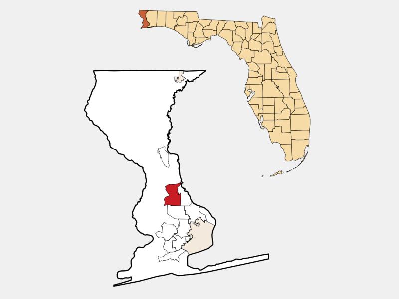Gonzalez location map