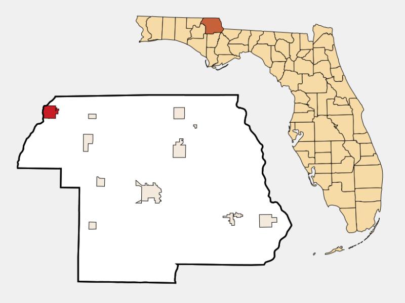 Graceville location map