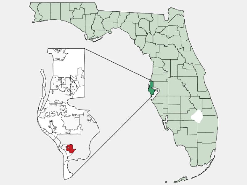 Gulfport locator map