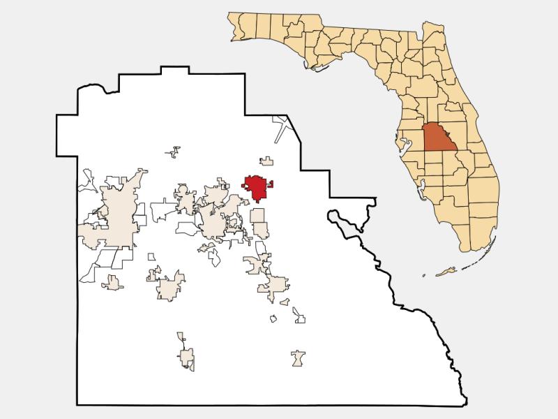 Haines City, FL locator map