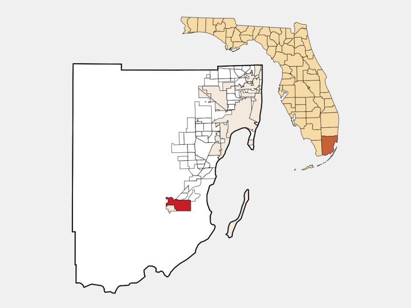 Homestead, FL locator map