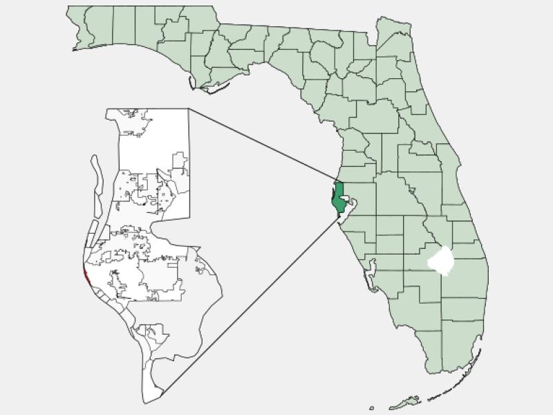 Indian Shores locator map