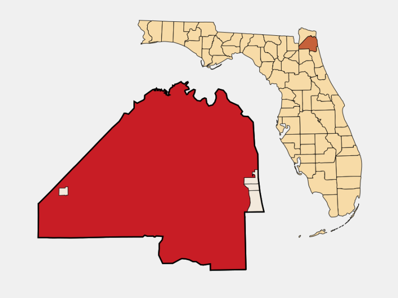 Jacksonville, FL locator map