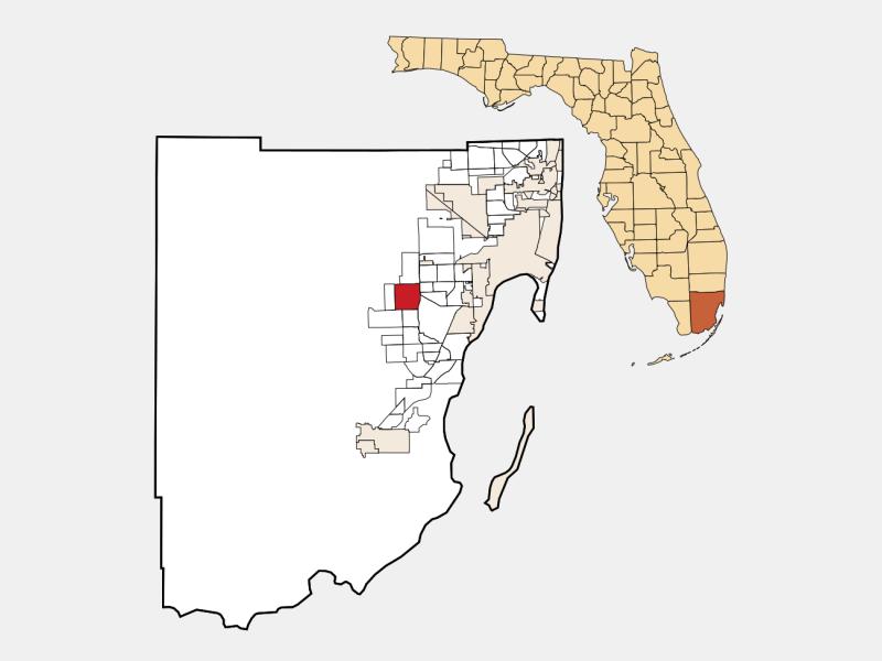 Kendale Lakes locator map