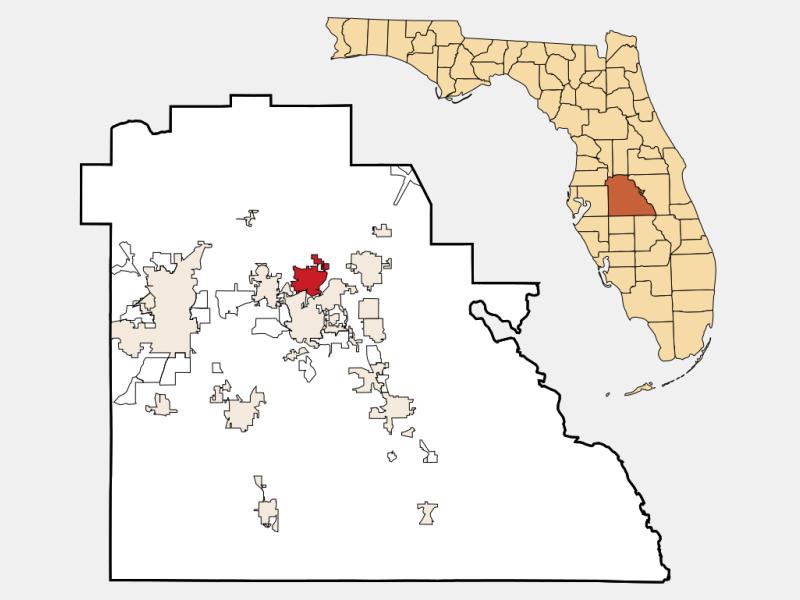 Lake Alfred locator map