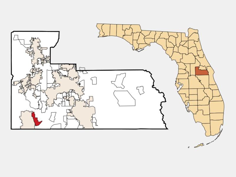 Lake Buena Vista locator map