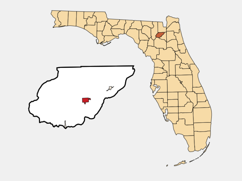 Lake Butler location map