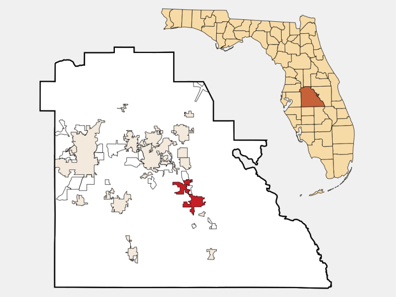 Lake Wales locator map