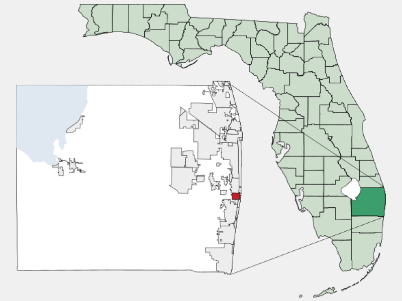 Lantana locator map