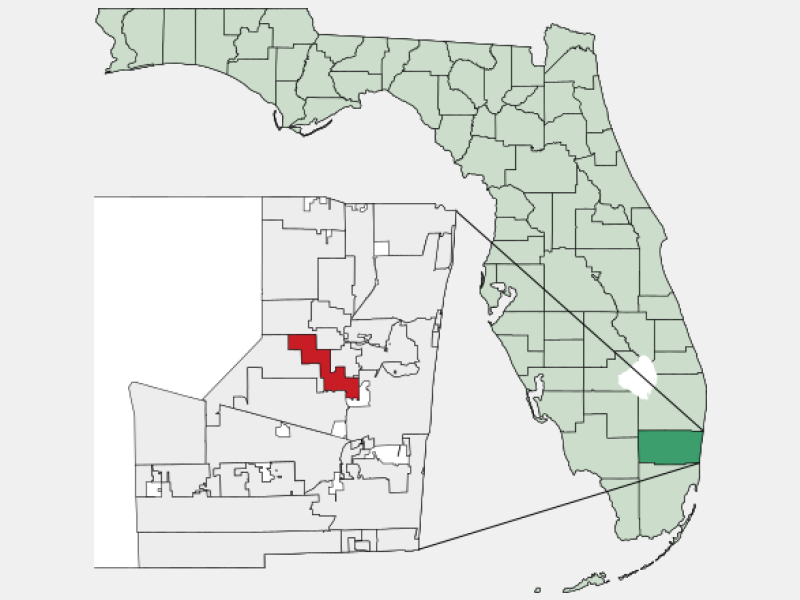 Lauderhill, FL locator map